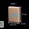 กล่องกระดาษคราฟ กว้าง 6.5 ซม. x สูง9 ซม. x หนา 3 ซม.