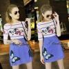 Lady Ribbon Korea Closet SW12060616 Sweet Bunny Present... Butterfly Stripe Print Dress