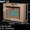 กล่องกระดาษคราฟ ขนาด กว้าง 8 ซม. xยาว 10.5 ซม. xหนา 4 ซม.