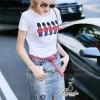 Lady Ribbon Korea Closet Shop Shop Korea Design By Lavida palace soldiery embroidered top question mark denim skirt set