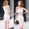 Lady Ribbon Korea Mini Dress Korea LR09300616 &#x1F380 Lady Ribbon's Made &#x1F380 Lady Lauren Sexy Sweet Embroidered Lace Mini Dress