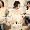 Lady Ribbon Korea SS02060616 Seoul Secret Say's... Lightly Cream Knitty Blouse