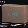 กล่องกระดาษคราฟ ขนาด กว้าง 7 ซม. x สูง 10 ซม. x หนา 3.5 ซม.