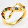 แหวนนพเก้า Infinity แหวนพลอยแท้ เงินแท้ ชุบทองคำแท้