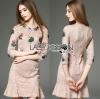 Lady Ribbon Korea Lace Dress เดรสผ้าลูกไม้สีชมพูนู้ด