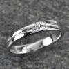 แหวนทองคำขาวเพชรแท้