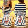Lady Ribbon Korea Printed Dress