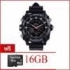 กล้องนาฬิกาข้อมือ รุ่น HD 1080P อินฟาเรด - สีดำ(ฟรี Micro SD 16GB )