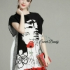 Lady Ribbon Korea Brand SW 08060616 Sweet Bunny Present... Women Tassel Print Dress