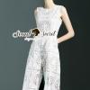 Lady Ribbon Korea Brand SS09060616 Seoul Secret Say's... Classicly Ivory Lace Long Playsuit
