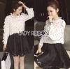 Lady Ribbon Dress LR10120516 &#x1F380 Lady Ribbon's Made &#x1F380 Lady Nicole Minimal Feminine Polka Dots Printed Ruffle Blouse Dress