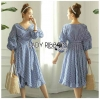🎀 Lady Ribbon's Made 🎀 Lady Michell Korean Style Checked Cotton Ruffle Dress