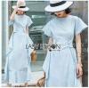 Chic Cotton Ruffle Lady Ribbon Dress