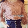 Vintage Chic Flower Lace Blouse