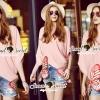 Lady Ribbon Korea SS 03060616 Seoul Secret Say's... Lizzy Pink Butterfly Tail Blouse