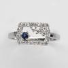 แหวนพลอยแท้แหวนเงิน925 พลอย ไพลิน ประดับเพชร CZ ชุบทองคำขาว