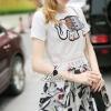 Lady Ribbon Korea Closet LV04070616 &#x1F36DKorea Design By Lavida noble elephant embroidered top floral printed skirt nice set