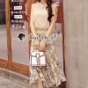 Seoul Secret Say's... Girly Creaming Lace Sleevless Bloom Skirt Set