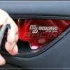 เบ้ารองมือเปิดด้านใน MAZDASPEED สีแดง Mazda 3