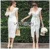 Cotton Dress เดรสผ้าคอตตอนสีขาว