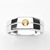 แหวนพลอยแท้ แหวนเงิน925 พลอย บุษราคัม ตัวเรือน ชุบทองคำขาว