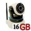 กล้อง IP cam หมุนได้ติดตั้ง 5 นาที คุณภาพสุดยอด ฟรี พร้อมใช้งาน เมมโมรี่ 16G จัดส่ง EMS FREE