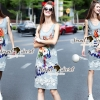 Lady Ribbon Korea Brand SS19300516 Seoul Secret Say's .... Parroty Lace Lace Cami Dress