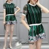 Lady Ribbon Korea Brand SW04060616 Sweet Bunny Present... Garment Print Tired Shorts Set