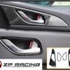 กรอบมือจับประตูด้านใน Carbon 4 ชิ้น Mazda3