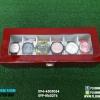 กล่องไม้เก็บนาฬิกา 6 เรือน สีแดง