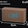 กล่องกระดาษคราฟ ขนาด กว้าง 5 ซม. x สูง 9 ซม. x หนา 3 ซม.