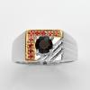 แหวนพลอยแท้ แหวนเงิน925 พลอย สปินเนล ตัวเรือน ชุบทองคำขาว ทองคำ