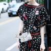 Lady Ribbon Korea Closet LV05070616 &#x1F36DKorea Design By Lavida fashionista colorful printed black chic jumpsuit