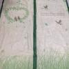ม่านประตูกันยุง รุ่นพรีเมียม ไซส์ 100 สีเขียว พิมพ์ลายเลิฟเบิร์ด