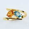 แหวนทองคำแท้ ประดับพลอยเพทาย-บุษราคัม