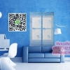 ม่านหน้าต่างกันยุง ก130xส150 ซม.แบบผ้าทอลาย คละสี