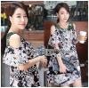 Lady Ribbon's Made &#x1F380 Lady Rachel Print on Print Cut-Out Korea Dress เดรส