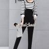 Seoul Secret Say's... Chic Bibby Stripe Orgy Layer Sleeve Set
