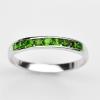 แหวนพลอยแท้ แหวนเงิน925 พลอย มรกต ตัวเรือน ชุบทองคำขาว