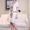 Lady Ribbon Korea SS04060616 Seoul Secret Say's... Bohe Color Embroider Long Dress