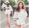 Lady Ribbon Korea Closet LR03230616 &#x1F380 Lady Ribbon's Made &#x1F380 Lady Catherine Casual Flared Sleeve Lace Playsuit in White เ