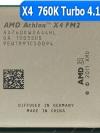 [FM2] X4 760K Quad Core 3.8 GHzTurbo Speed: 4.1 GHz AD760KWOA44HL