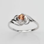 แหวนพลอยแท้ แหวนเงินแท้925 ชุบทองคำขาว ฝังพลอยทัวร์มาลีนธรรมชาติ