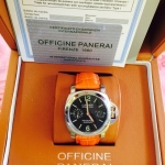 Panerai Luminor Marina 049 - Orange Leather and Black Dial