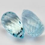 พลอยอะความาลีน (Aquamarine) พลอยธรรมชาติแท้ น้ำหนัก 4.85 กะรัต
