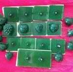 หมุดติดม่านกันยุงแบบเทปกาวสองหน้า(หมุดเทป) สีเขียวเข้ม