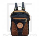 Jeans Denim Backpack, graphics pattern1, Medium Size