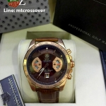 TAG HEUER Grand Carrera 17RS Caliper Chrono - Pink Gold and Brown Leather Strap