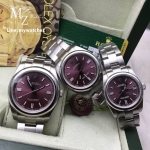 Rolex Oyster Perpetual Purple Dial Stick Hour
