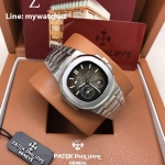 PATEK Nautilus 5712/1A Power Reserve Moonphase Calendar - Grey Dial